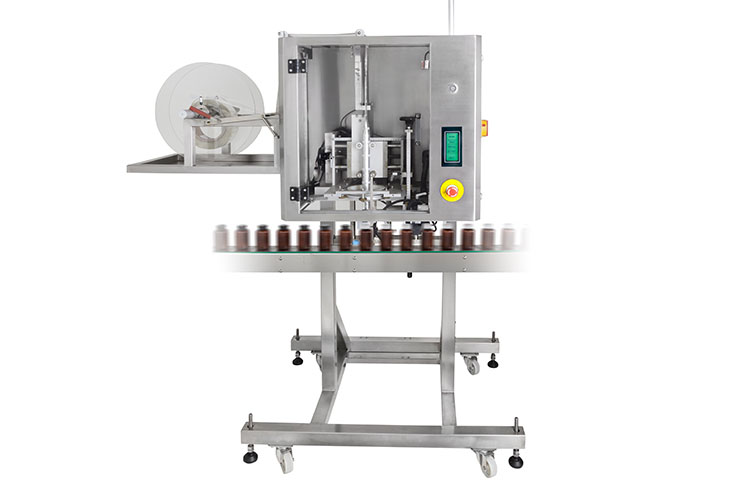 AFM LX-100 shrink sleeve labeler for tamper evident banding and shrink sleeve labeling applications